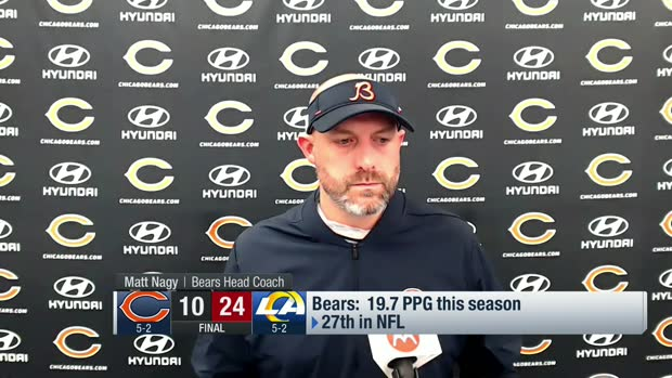 Matt Nagy reacts to reported disagreements between himself, Foles on play calls