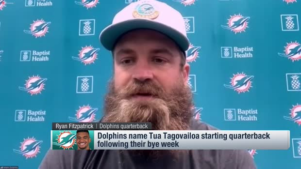 Ryan Fitzpatrick: Dolphins 'broke my heart' with QB change to Tua