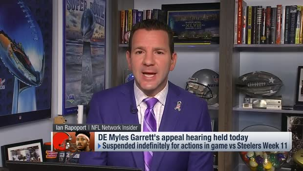NFL Network Insider Ian Rapoport: Details of Cleveland Browns defensive end Myles Garrett's suspension appeal