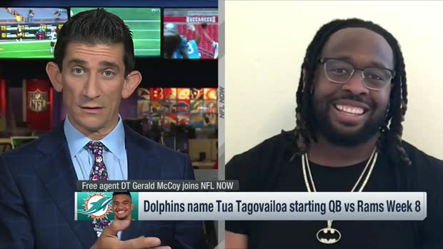 Gerald McCoy: 'The timing is a little off' for Dolphins' QB move to Tua Tagovailoa