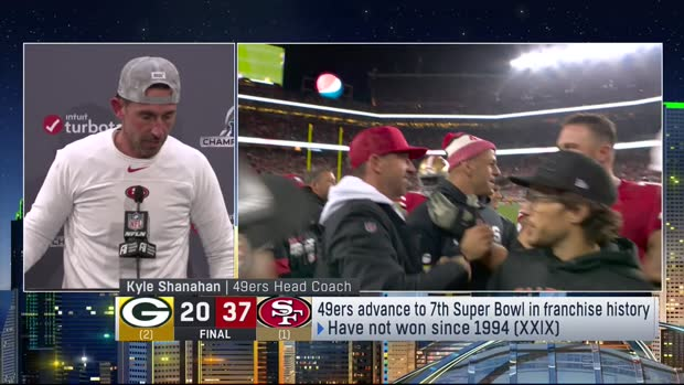 San Francisco 49ers head coach Kyle Shanahan describes 'special' moment with dad after NFC title game