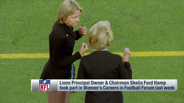 Lions principal owner Sheila Ford Hamp takes part in Women's Careers in Football Forum