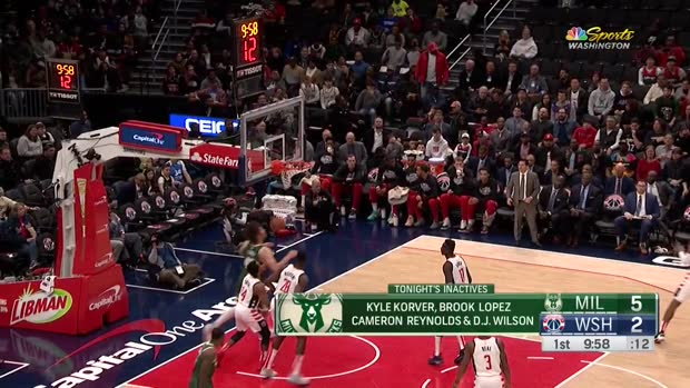 WSC: Khris Middleton with 40 Points vs. Washington Wizards