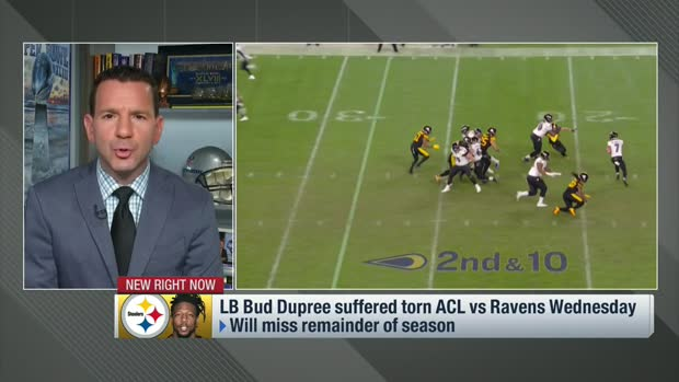 Rapoport: Tests confirmed torn ACL for Bud Dupree