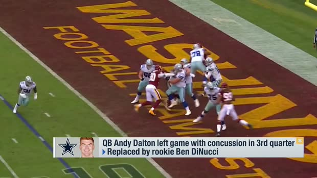 Rapoport: Andy Dalton's status 'very much in question' after entering concussion protocol