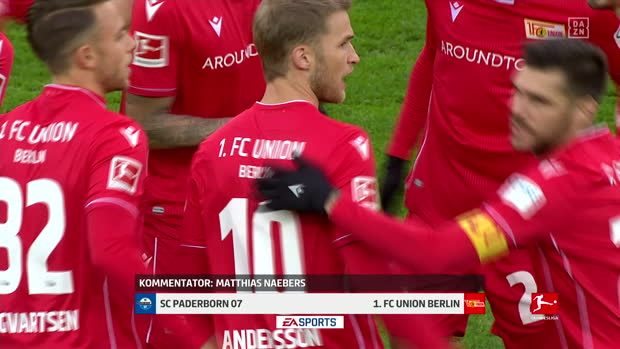 Bundesliga: SC Paderborn - 1. FC Union Berlin | DAZN Highlights