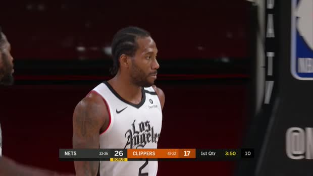Kawhi Leonard with 39 Points vs. Brooklyn Nets