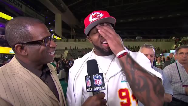 Kansas City Chiefs outside linebacker Terrell Suggs shares his Super Bowl advice to Chiefs teammates