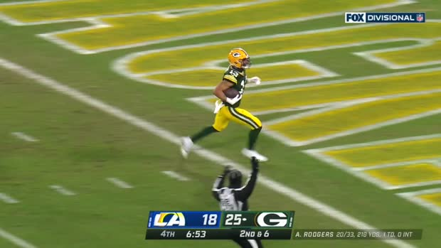 Can't-Miss Play: Rodgers dials long distance to Lazard for 58-YARD TD