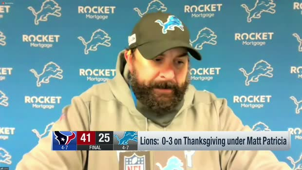 Matt Patricia responds to job security questions after Week 12 loss