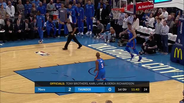 WSC: Joel Embiid with 31 Points vs. Oklahoma City Thunder