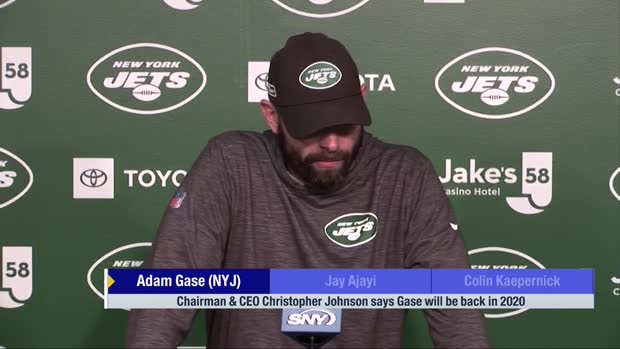 New York Jets head coach Adam Gase responds to support from Jets ownership
