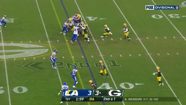 Best plays by Packers RBs vs. Rams NFC Divisional Round