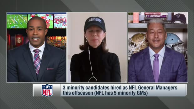 Amy Trask, Steve Wyche discuss hiring practices of minority candidates