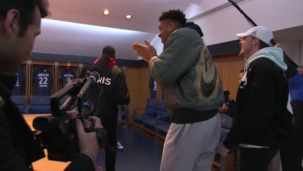 Giannis Antetokounmpo Mic'd Up at Paris Saint Germain Stadium