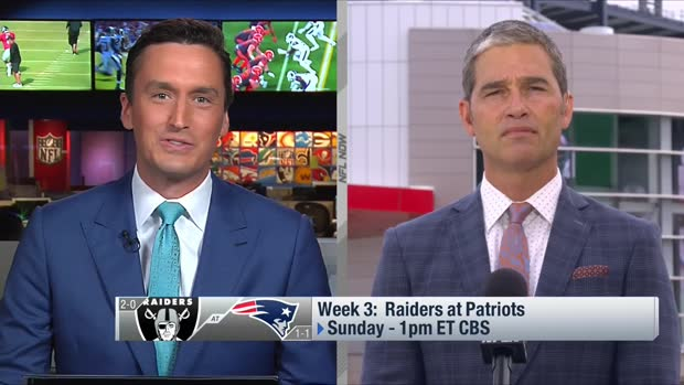 Giardi highlights top storylines for Raiders-Patriots in Week 3