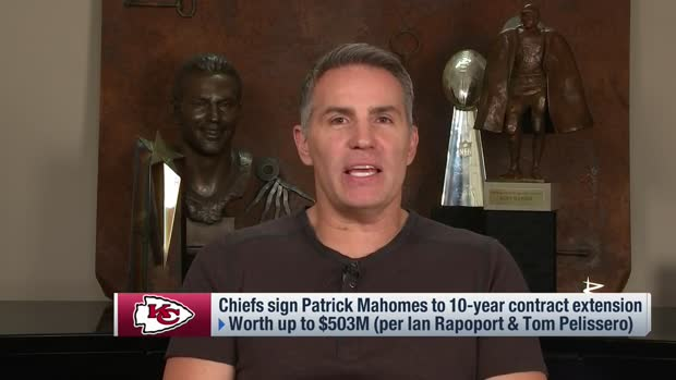 Warner, L.T., McGinest weigh in on Mahomes' megadeal