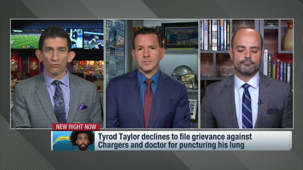Rapoport: Tyrod Taylor won't file grievance against Chargers, doctor for punctured lung