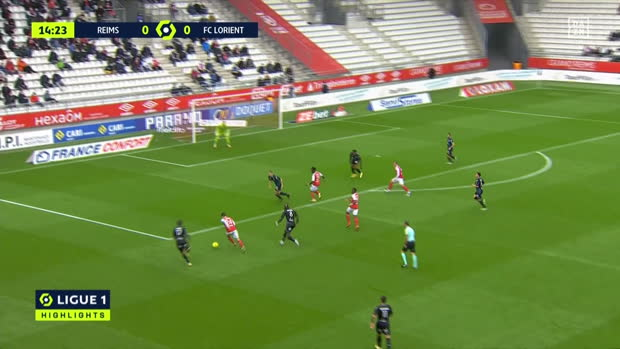 Ligue 1: Stade Reims - FC Lorient | DAZN Highlights