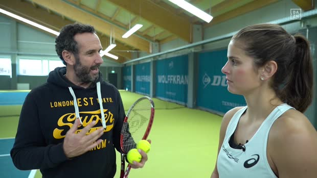 Elmars 501: Das ultimative Darts-Tennis-Duell mit Julia Görges | DAZN Darts