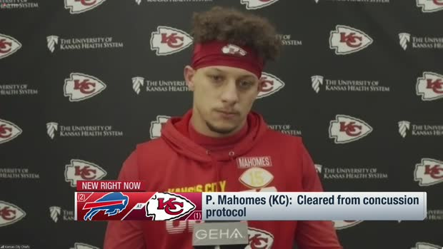Patrick Mahomes shares that he's cleared from concussion protocol