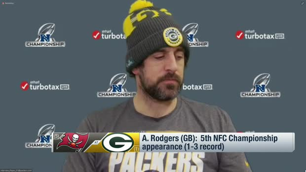Aaron Rodgers looks forward to first NFC Championship start at Lambeau Field of career