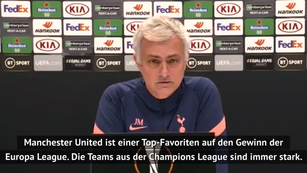Mourinho: United Top-Favorit in der Europa League