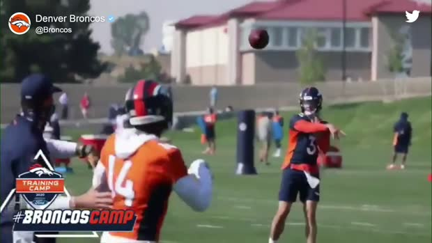 A new look for Lock! Broncos QB dons visor at training camp