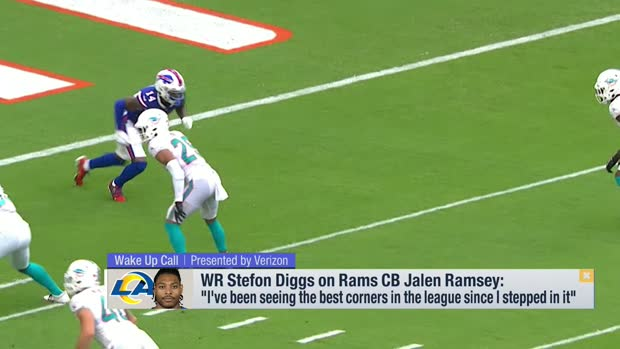 Stefon Diggs previews his upcoming matchup vs. Rams CB Jalen Ramsey