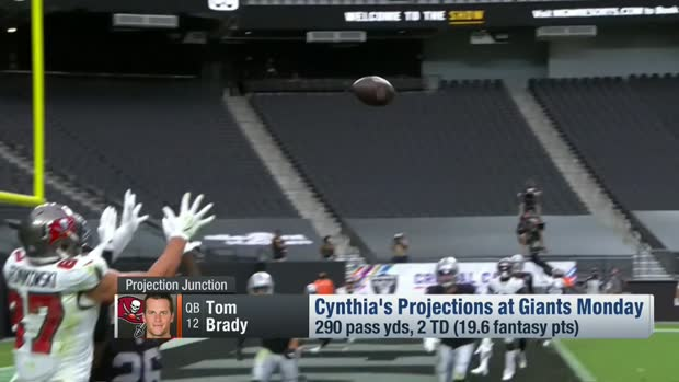 Cynthia Frelund's Week 8 fantasy projection for Tom Brady