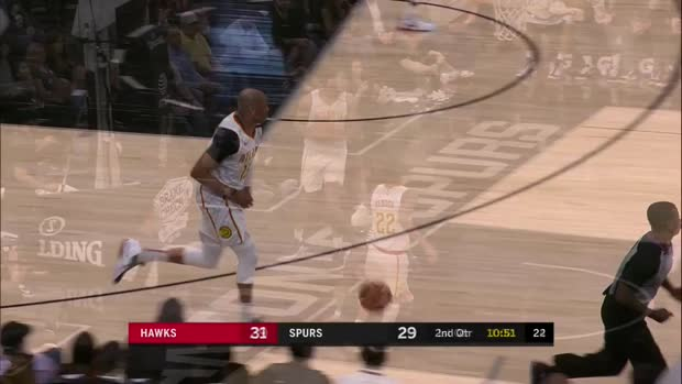 WSC: Jakob Poeltl (4 points) Highlights vs. Atlanta Hawks