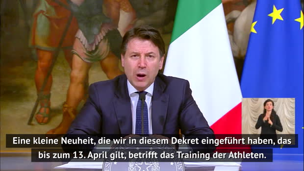 Giuseppe Conte: Kein Team-Training bis 13. April