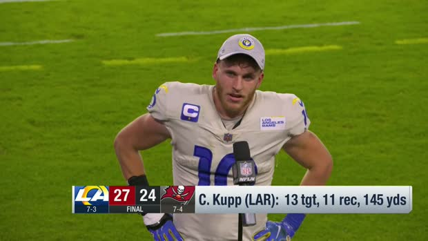 Cooper Kupp reacts to his big performance with Robert Woods vs. Bucs