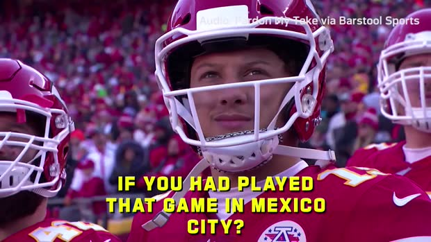 Can Patrick Mahomes really throw 100 yards in Mexico? MJ Acosta breaks it down