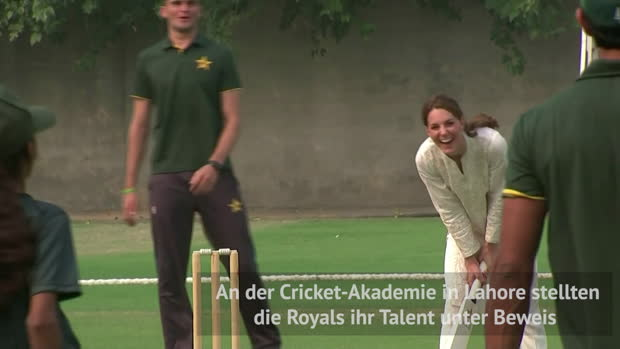 Prinz William und Kate zeigen ihr Cricket-Talent