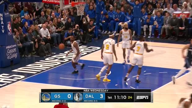 WSC: Luka Doncic Posts 35 points, 11 assists & 10 rebounds vs. Golden State Warriors