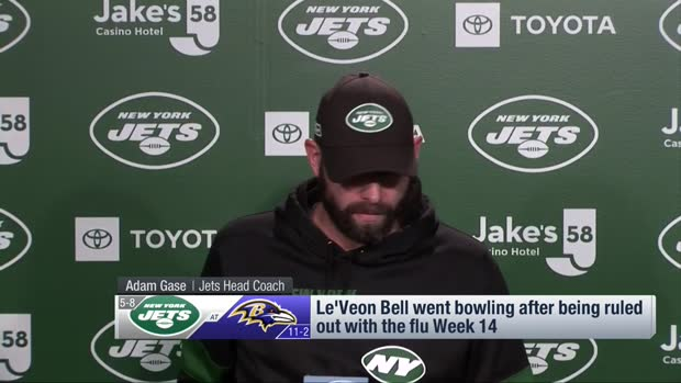 New York Jets head coach Adam Gase: Le'Veon Bell didn't violate team rules by going bowling