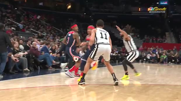 WSC: Bradley Beal with 33 Points vs. San Antonio Spurs