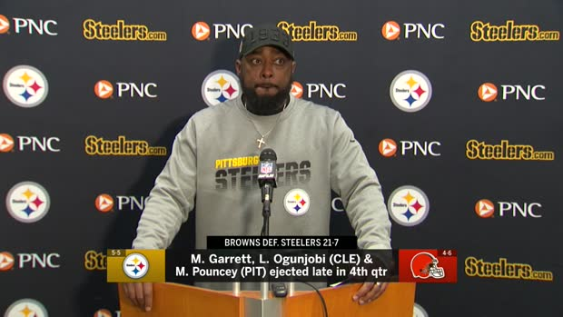 Pittsburgh Steelers head coach Mike Tomlin declines to comment on Myles Garrett after Week 11