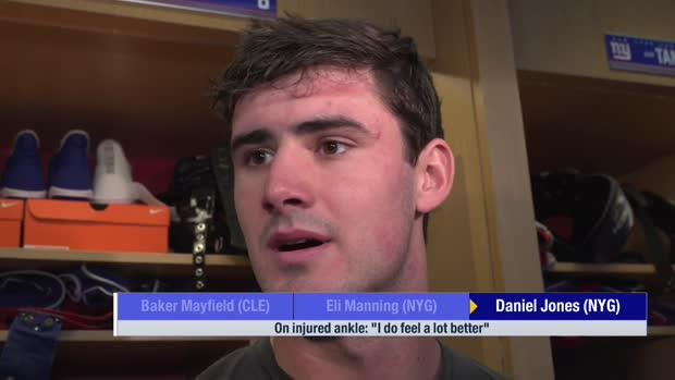 New York Giants QB Daniel Jones on ankle injury: I feel 'a lot better'