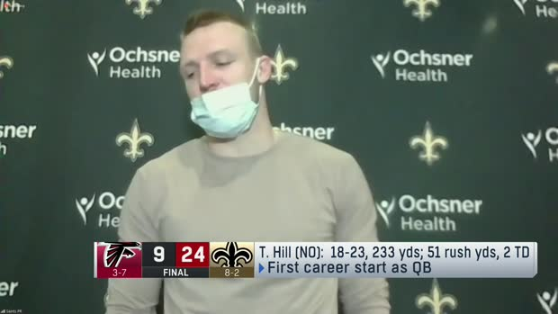 Taysom Hill shares how Drew Brees helped his first NFL start at QB