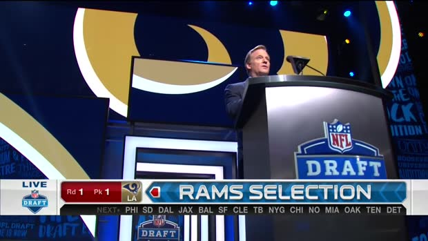 Rams pick Jared Goff No.1