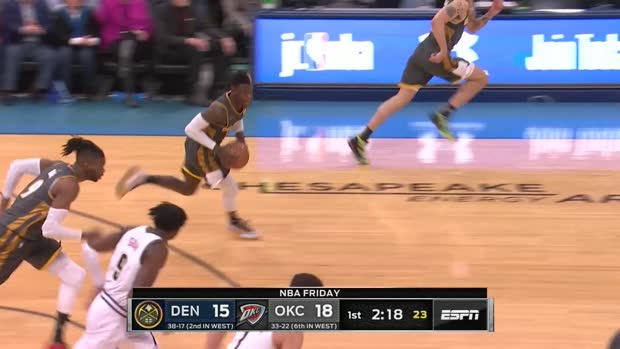 WSC: Dennis Schroder (11 points) Highlights vs. Denver Nuggets