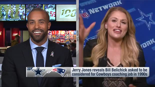 NFL Network's Jane Slater: Dallas Cowboys owner Jerry Jones had chance to hire New England Patriots head coach Bill Belichick in 1990s