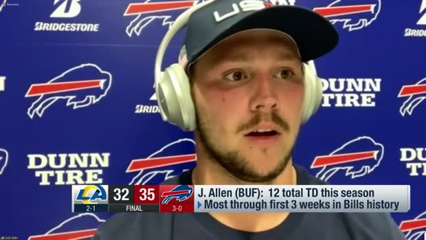 Three eye-popping stats from Josh Allen's 2020 so far