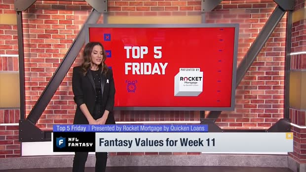 Kay Adams' Week 11 fantasy values