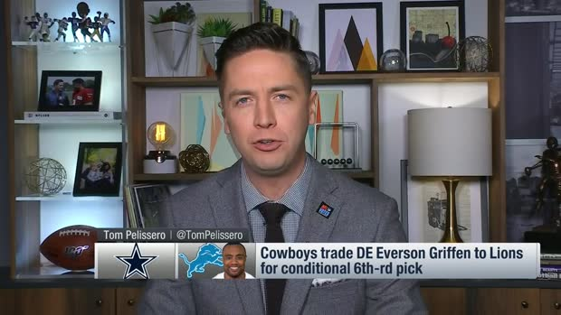 Pelissero reveals details of Cowboys-Lions Everson Griffen trade