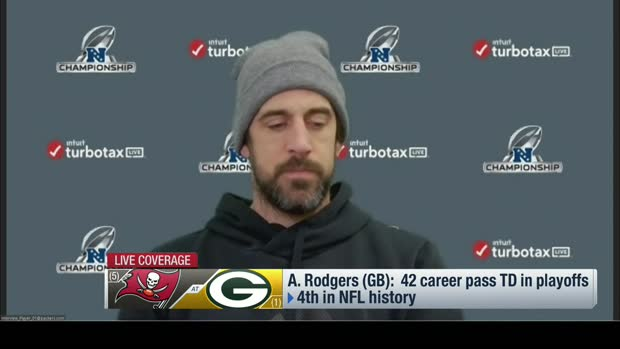 Aaron Rodgers on fifth championship game: 'I don't feel any extra pressure'
