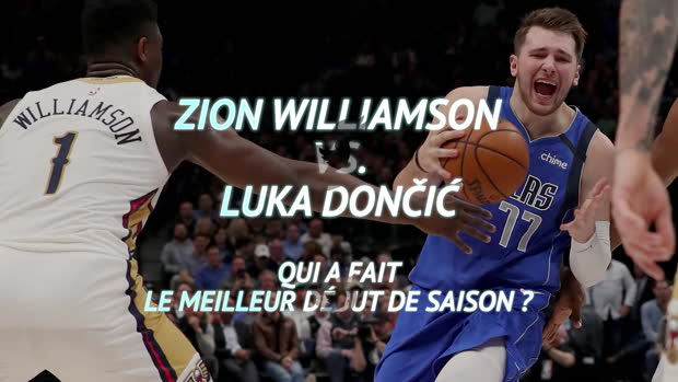 Basket : NBA - Zion Williamson vs. Luka Don?i?, qui a fait le meilleur début de saison ?