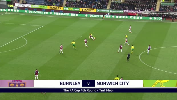 FA Cup: Burnley - Norwich | DAZN Highlights